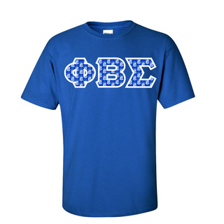 fa88b417514 Phi Beta Sigma Fraternity Crest - Shield Twill Letter Tee