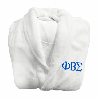 Phi Beta Sigma Fraternity Lettered Bathrobe