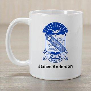 Phi Beta Sigma Greek Crest Coffee Mug - Personalized!