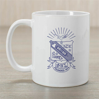 Phi Beta Sigma Greek Crest Coffee Mug