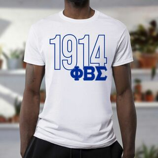 Phi Beta Sigma Greek Established Year Tee