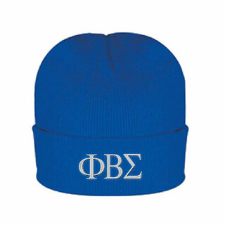 Phi Beta Sigma Greek Letter Knit Cap