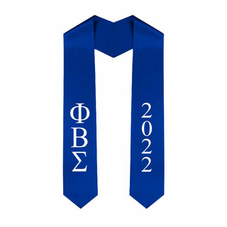 Phi Beta Sigma Greek Lettered Graduation Sash Stole With Year - Best Value