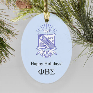 Phi Beta Sigma Holiday Color Crest - Shield Ornament