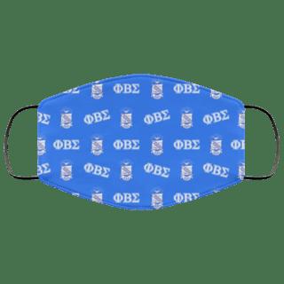 Phi Beta Sigma Letter Crest Face Masks
