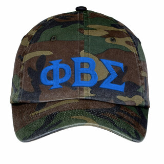 Phi Beta Sigma Lettered Camouflage Hat
