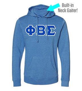 Phi Beta Sigma Lettered Gaiter Fleece Hooded Sweatshirt