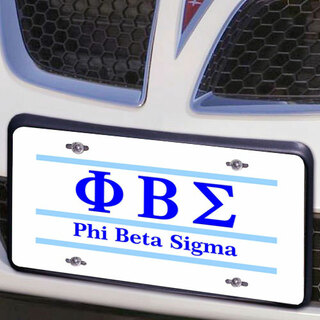 Phi Beta Sigma Lettered Lines License Cover