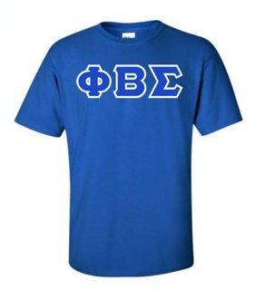 Phi Beta Sigma Sewn Lettered T-Shirt