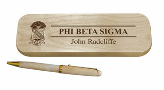 Phi Beta Sigma Maple Wood Pen Set