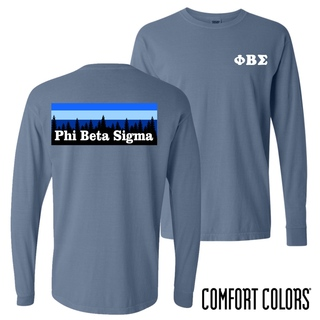Phi Beta Sigma Outdoor Long Sleeve T-shirt - Comfort Colors