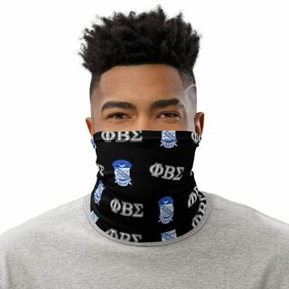 Phi Beta Sigma Neck Gaiters - Black w/ Blue