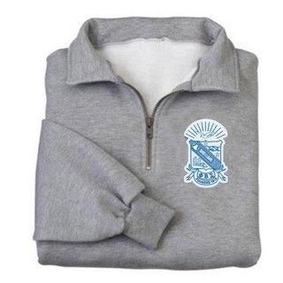 DISCOUNT-Phi Beta Sigma Emblem 1/4 Zip Pullover