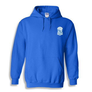 DISCOUNT-Phi Beta Sigma Crest - Shield Emblem Hooded Sweatshirt
