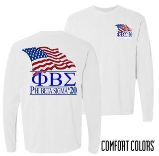 Phi Beta Sigma Patriot Long Sleeve T-shirt - Comfort Colors
