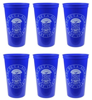 Phi Beta Sigma Set of 6 Big Plastic Stadium Cups