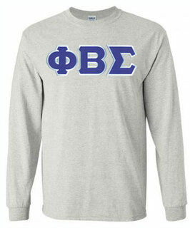 Phi Beta Sigma Sewn Long Sleeve T-shirts