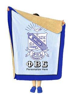Phi Beta Sigma Sherpa Lap Blanket