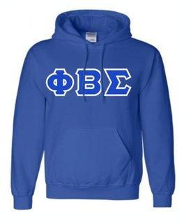 Phi Beta Sigma Sewn Lettered Sweatshirts