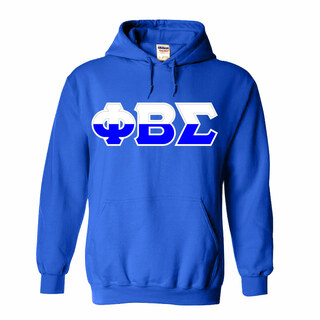 Phi Beta Sigma Two Tone Greek Lettered Hooded Sweatshirt
