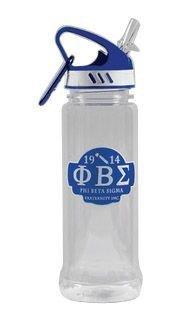 Phi Beta Sigma Water Bottle W/Carabiner Hook