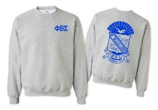 Phi Beta Sigma World Famous Crest - Shield Crewneck Sweatshirt- $25!