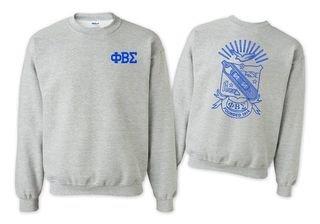 Phi Beta Sigma World Famous Crest - Shield Printed Crewneck Sweatshirt- $25!