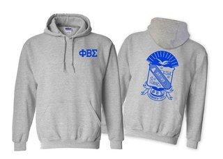 Phi Beta Sigma World Famous Crest - Shield Hooded Sweatshirt- $35!