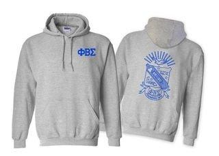 Phi Beta Sigma World Famous Crest - Shield Printed Hooded Sweatshirt- $35!
