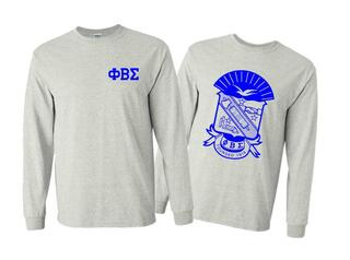 Phi Beta Sigma World Famous Crest - Shield Long Sleeve T-Shirt- $19.95!
