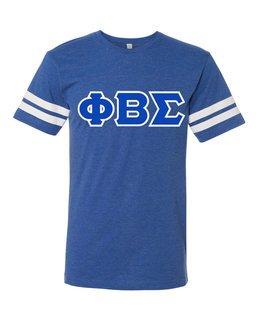 Phi Beta Sigma World Famous Greek Twill Football Fine Jersey Tee
