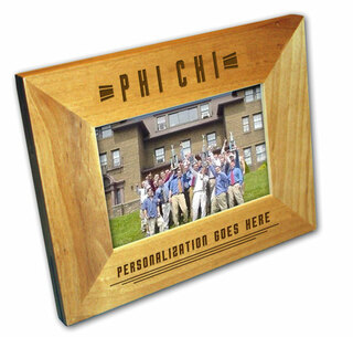 "Phi Chi 4"" x 6"" Stripes  Custom Picture Frame"