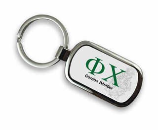 Phi Chi Chrome Crest - Shield Key Chain