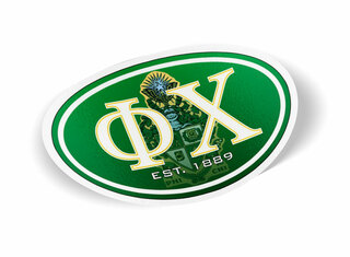 Phi Chi Color Oval Decal