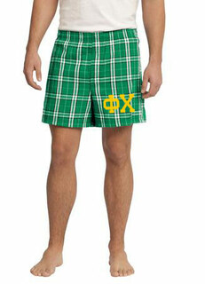 Phi Chi Flannel Boxer Shorts