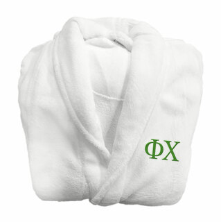 Phi Chi Fraternity Lettered Bathrobe