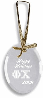 Phi Chi Glass Ornament