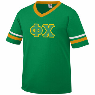 DISCOUNT-Phi Chi Jersey With Greek Applique Letters
