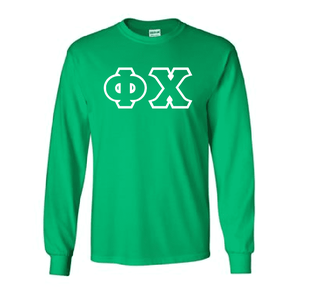 Phi Chi Lettered Long Sleeve Shirt