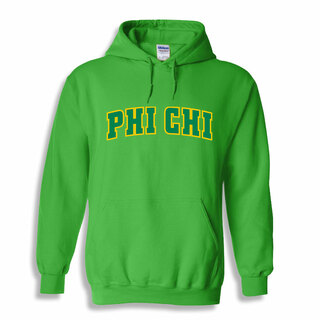 Phi Chi Letterman Twill Hoodie