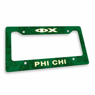 Phi Chi Custom License Plate Frame
