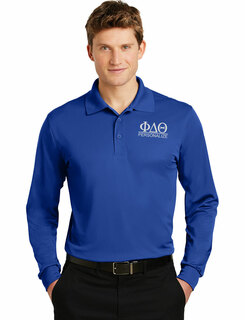 Phi Delta Theta- $30 World Famous Long Sleeve Dry Fit Polo