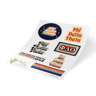 Phi Delta Theta 70's Sticker Sheet