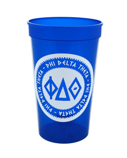 Set of 10 - Phi Delta Theta Big Ancient Greek Letter Stadium Cup - Clearance!!!