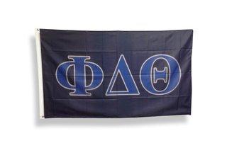 Phi Delta Theta Big Greek Letter Flag