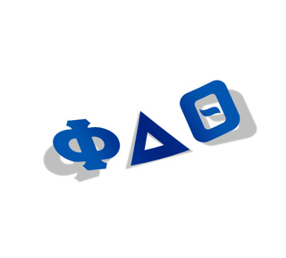 Phi Delta Theta Big Greek Letter Window Sticker Decal