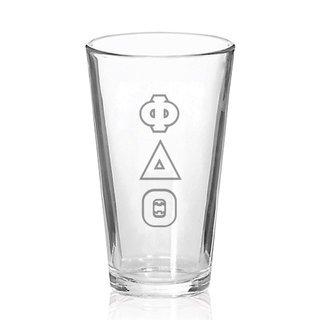 Phi Delta Theta Big Letter Mixing Glass