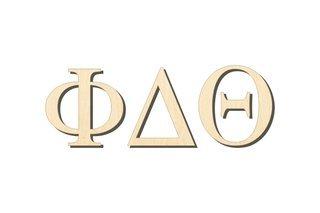 Phi Delta Theta Big Wooden Greek Letters