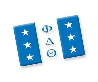 Phi Delta Theta Ceramic Flag Magnet