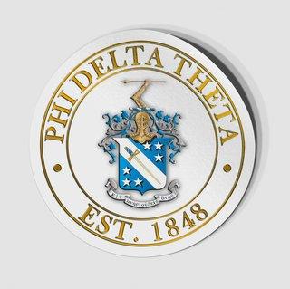 Phi Delta Theta Circle Crest - Shield Decal